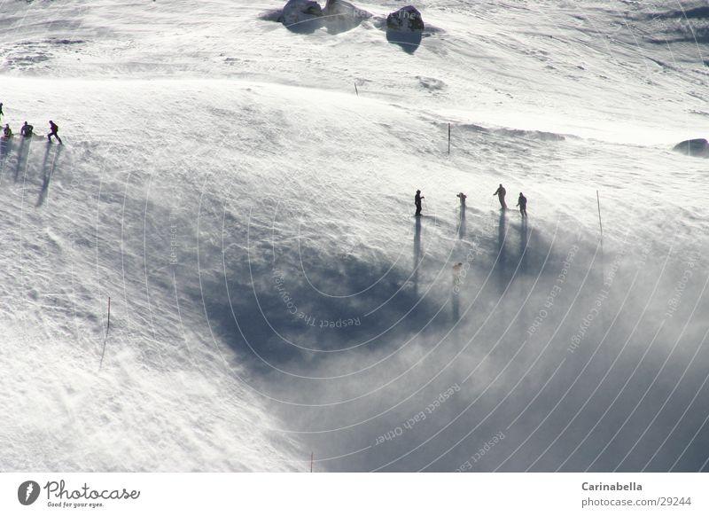 Engstligenalp Sport Schnee Berge u. Gebirge Skifahren Skipiste
