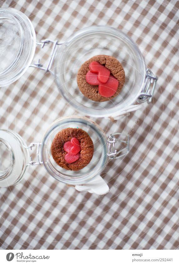 yummy yummy yummy Dessert Süßwaren Schokolade Muffin Ernährung Picknick Fingerfood Einmachglas lecker süß kariert Farbfoto Innenaufnahme Menschenleer