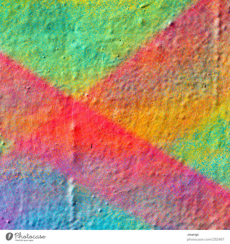 Achtziger Farbe Graffiti Wand Farbstoff Mauer Stil Hintergrundbild Linie Kunst außergewöhnlich Design Lifestyle verrückt Coolness retro einzigartig