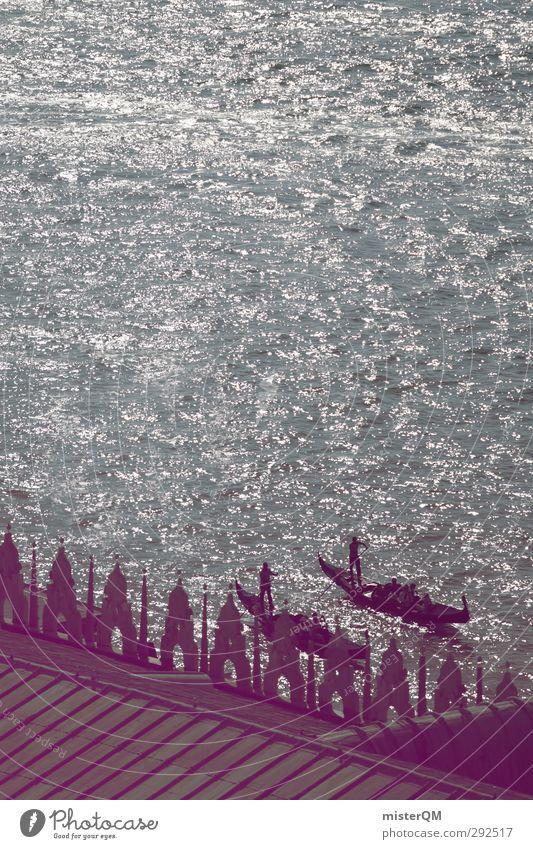 Come get some! Kunst Wasserfahrzeug ästhetisch Romantik Italien Kitsch Venedig Gondel (Boot) Gondoliere Canal Grande