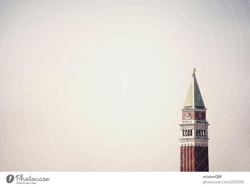 i Ferien & Urlaub & Reisen Himmel (Jenseits) rot Architektur Reisefotografie Kunst Tourismus ästhetisch Turm historisch Wahrzeichen Fernweh Kunstwerk Venedig Altertum ziegelrot