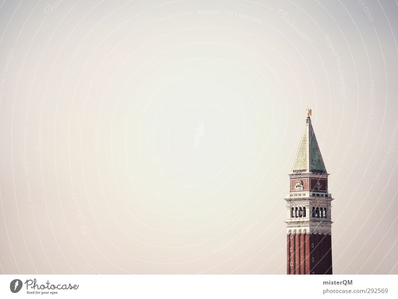 i Kunst Kunstwerk ästhetisch Architektur Turm Venedig Campanile San Marco San Marco Basilica Reisefotografie Ferien & Urlaub & Reisen Tourismus Wahrzeichen