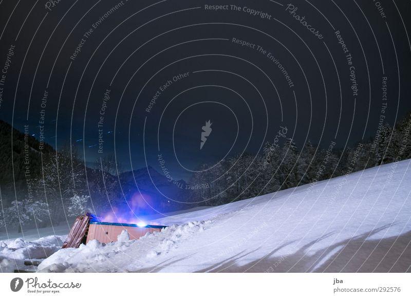 Pool at Night Lifestyle Leben Wohlgefühl Erholung Massage Whirlpool Winter Schnee Winterurlaub Berge u. Gebirge Landschaft Saanenland Schwimmen & Baden heiß