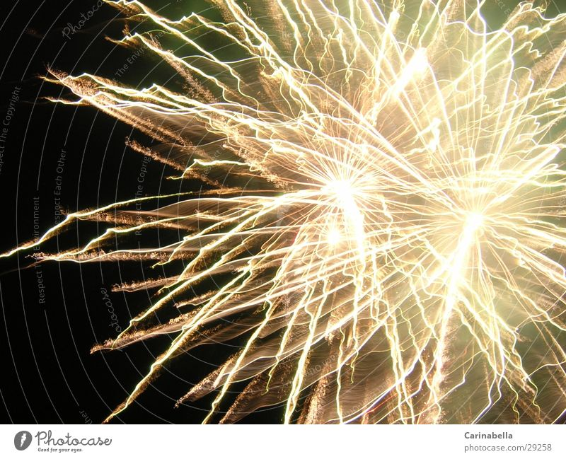 Knaller Beleuchtung Brand Silvester u. Neujahr Nachthimmel Feuerwerk Fototechnik