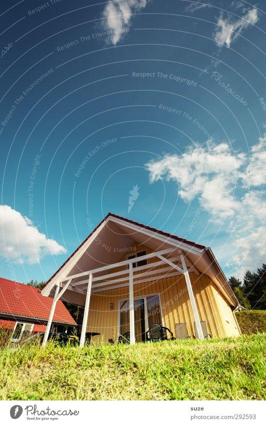 So schmeckt der Sommer Himmel Natur blau Ferien & Urlaub & Reisen grün Wolken Landschaft Haus gelb Umwelt Fenster Wiese Holz Gebäude natürlich außergewöhnlich
