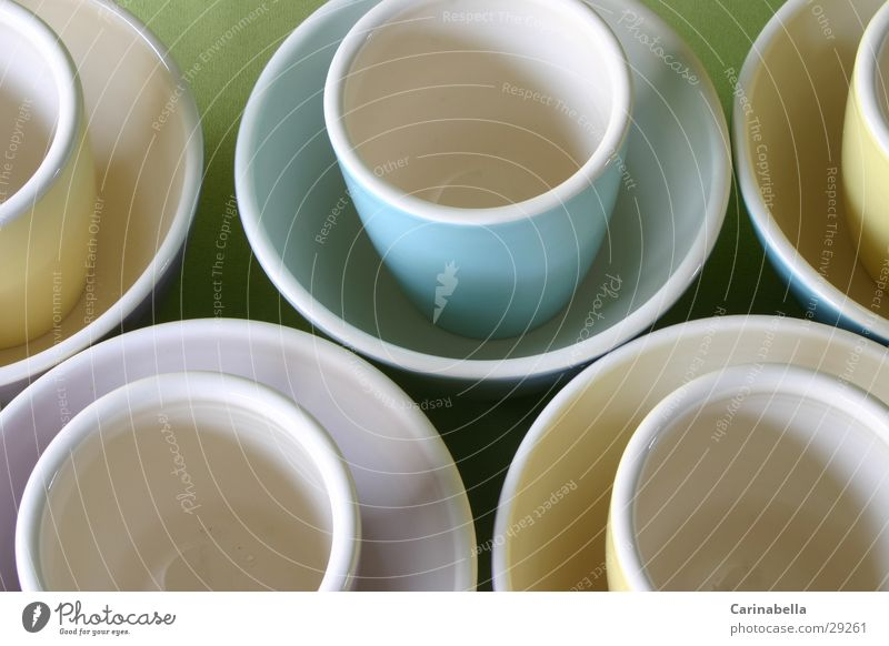 Morgenessen Keramik Tasse Untertasse Ernährung Geschirr Kaffetasse Müslischale