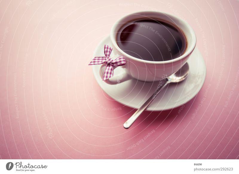 Käffchen ruhig Erholung Liebe feminin Stil rosa Lebensmittel Design Lifestyle Dekoration & Verzierung Getränk niedlich Pause genießen Kaffee Freundlichkeit