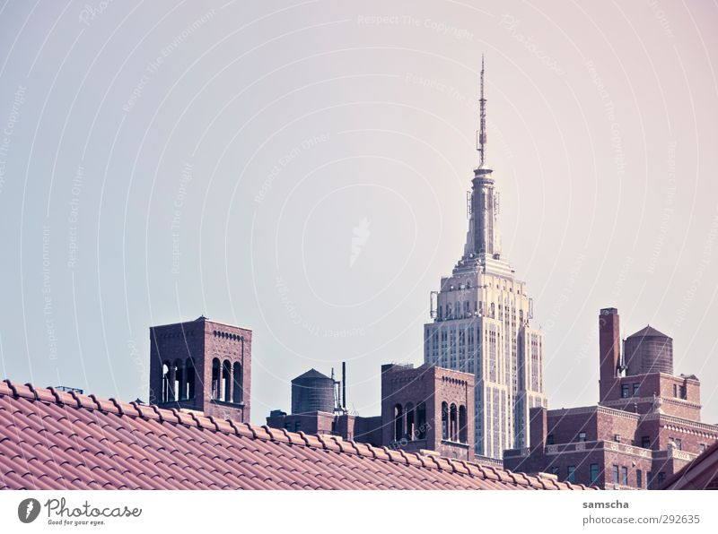 New York City Ferien & Urlaub & Reisen Stadt schön Haus Architektur Gebäude groß hoch Tourismus Dach Turm historisch Bauwerk Skyline Stadtzentrum Amerika