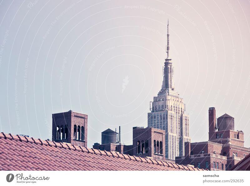 New York City Ferien & Urlaub & Reisen Tourismus Sightseeing Städtereise Stadt Stadtzentrum Skyline Haus Bauwerk Gebäude Architektur gigantisch groß historisch