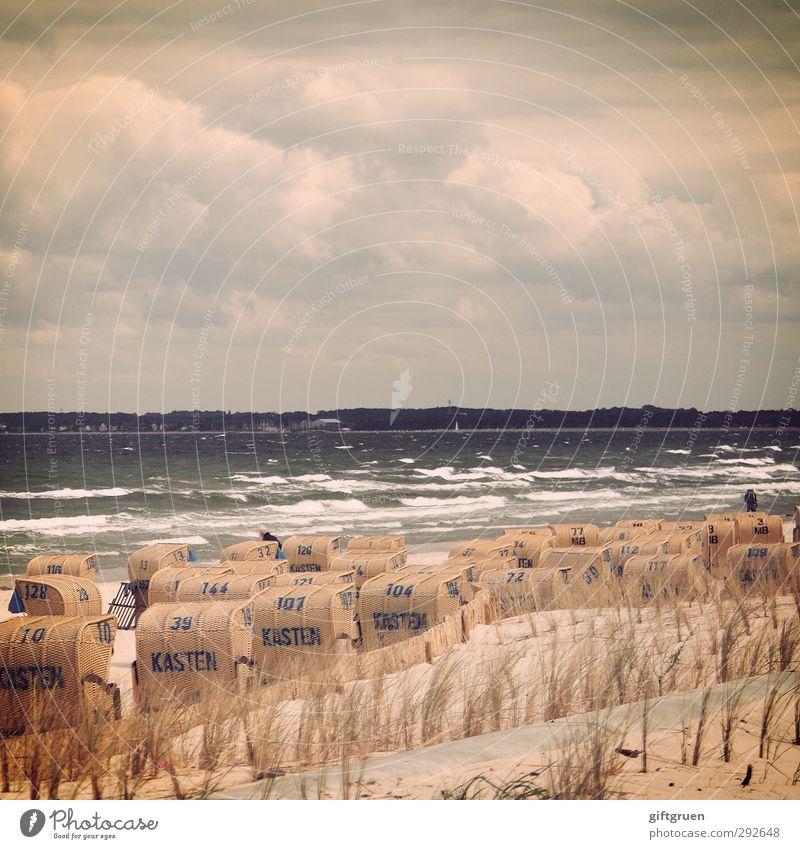 die ordnung der dinge Umwelt Natur Landschaft Urelemente Sand Wasser Himmel Wolken Wetter schlechtes Wetter Unwetter Wind Sturm Pflanze Gras Wellen Küste Strand