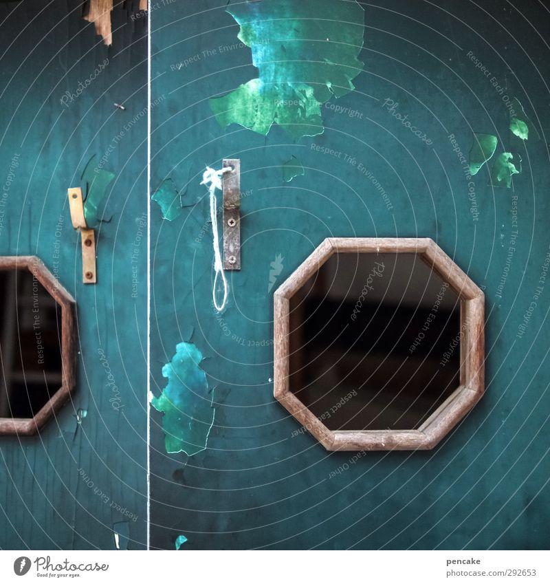 die sehnsucht nach meer Meer Ferne Fenster Gefühle Kunst Tür Häusliches Leben Idylle Neugier Sehnsucht Hütte Leidenschaft entdecken türkis Schifffahrt bizarr
