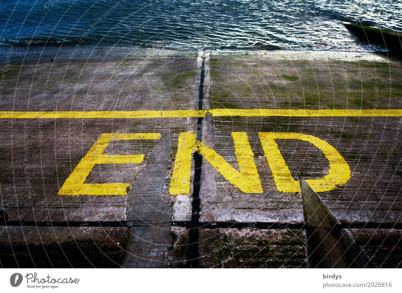 land`s ... Wasser Verkehrswege Straße Verkehrszeichen Verkehrsschild Schifffahrt Übergang Schriftzeichen Schilder & Markierungen Linie authentisch nass blau