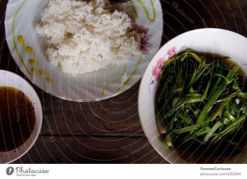 Cambodian Morning Glory. Essen Gesunde Ernährung Gesundheit Lebensmittel Ernährung Küche Asien Gemüse Geschirr Tradition Abendessen Fleisch Schalen & Schüsseln Thailand Mittagessen bemalt