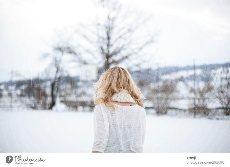 Rückenansicht Mensch Jugendliche weiß Winter Junge Frau Erwachsene feminin 18-30 Jahre hell