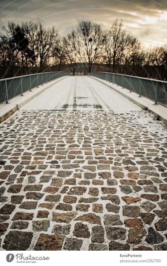 bridge 9 Himmel Natur Baum Sonne Wolken Winter Landschaft gelb kalt Straße Schnee Wege & Pfade Stein braun Eis gold