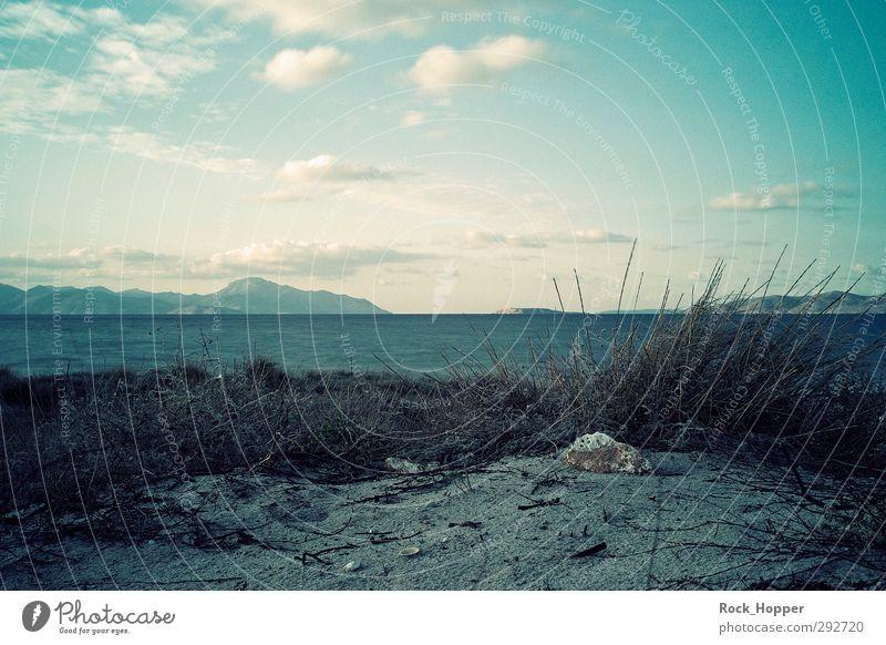 Blaue Inseln Himmel blau Ferien & Urlaub & Reisen Wasser Sommer Pflanze Sonne Meer Wolken Strand Landschaft ruhig Erholung Umwelt Ferne Herbst