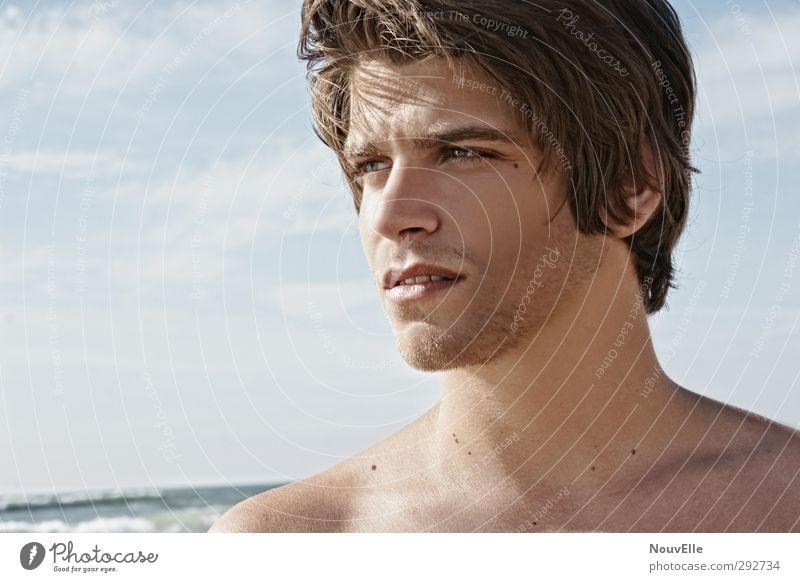 Quietly. Mensch Jugendliche Junger Mann Gesicht Erwachsene 18-30 Jahre Leben Erotik Schwimmen & Baden maskulin wild Erfolg authentisch 13-18 Jahre Coolness Unendlichkeit