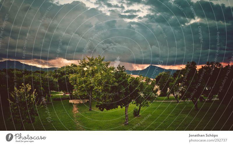 Korsika XIX Himmel Natur Ferien & Urlaub & Reisen Sommer Baum Landschaft Erholung Umwelt dunkel Wiese Berge u. Gebirge Freiheit Horizont Angst Wellen Insel