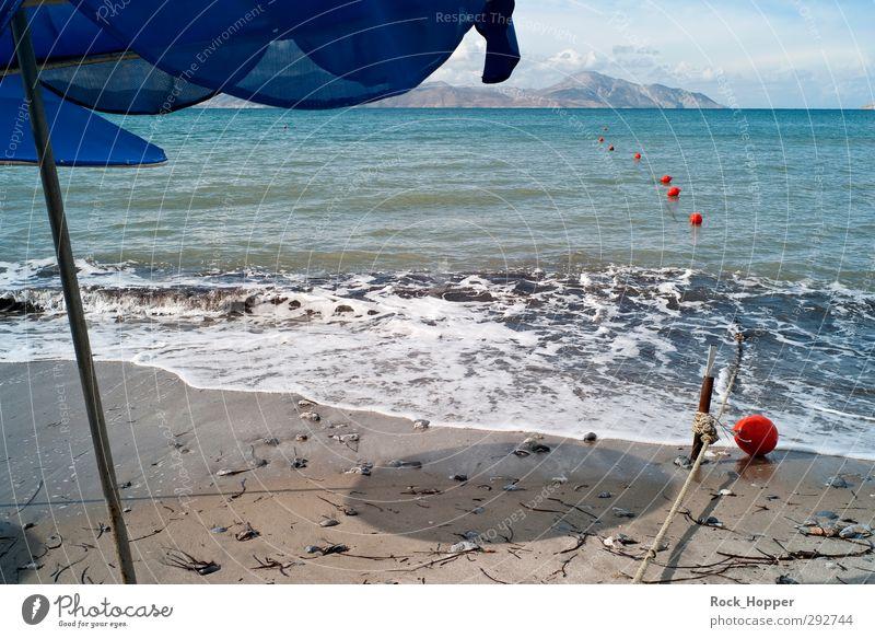 Herbstmeer Himmel Natur blau Ferien & Urlaub & Reisen Wasser Meer Wolken Landschaft Strand grau Küste Sand Metall orange Wellen