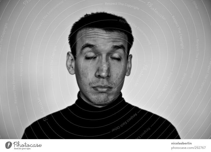 MP52 - E U P H O R I A Mensch Jugendliche Mann Erholung Junger Mann 18-30 Jahre Gesicht Erwachsene kalt Business maskulin Erfolg schlafen Studium Coolness
