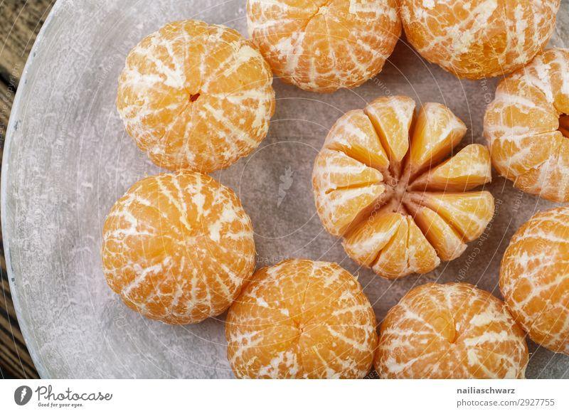 frische Clementine Lebensmittel Frucht Mandarine Teller Schalen & Schüsseln Gesunde Ernährung Weihnachten & Advent einfach Gesundheit lecker natürlich saftig