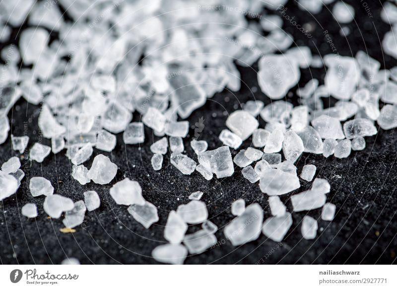 Salzkristalle weiß schwarz Gesundheit Lebensmittel Lifestyle kalt Ernährung ästhetisch Kräuter & Gewürze Wellness stark rein Bioprodukte Körperpflege eckig