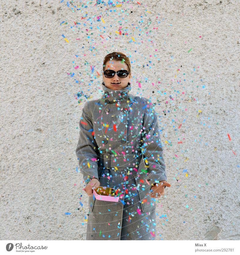 Russian Carnival Party Feste & Feiern Karneval Silvester u. Neujahr Mensch 1 18-30 Jahre Jugendliche Erwachsene Mantel Bart Oberlippenbart lustig Konfetti