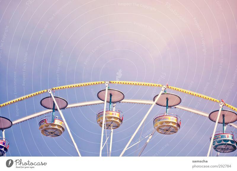 Jahrmarkt Stadtzentrum gebrauchen Bewegung drehen fahren fliegen frei groß hoch oben rund Riesenrad Feste & Feiern aufwärts Blick nach oben abwärts