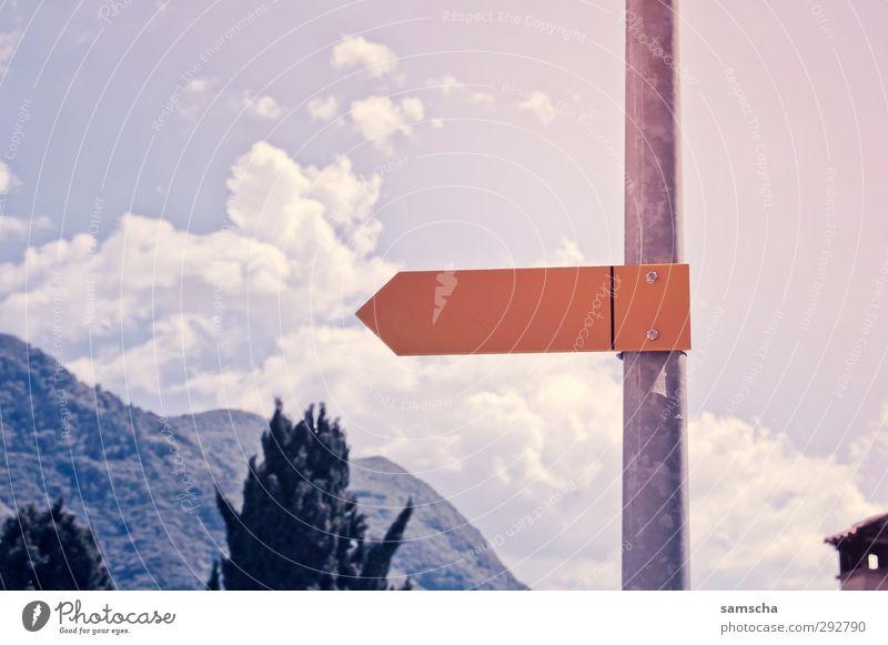 da lang Natur Ferien & Urlaub & Reisen Sommer Landschaft Umwelt Berge u. Gebirge Bewegung Wege & Pfade Freiheit gehen Schilder & Markierungen wandern Tourismus