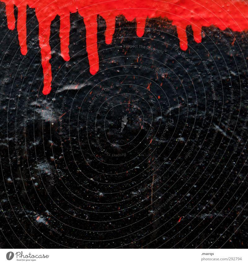 Horror Stil Design Anstreicher Subkultur Mauer Wand Zeichen außergewöhnlich bedrohlich Coolness einfach gruselig rot schwarz Angst Farbe Wandel & Veränderung