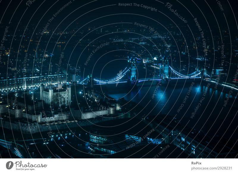 Tower of London Ferien & Urlaub & Reisen Ausflug Abenteuer Sightseeing Städtereise Umwelt Landschaft Urelemente Luft Wasser Nachthimmel Flussufer England