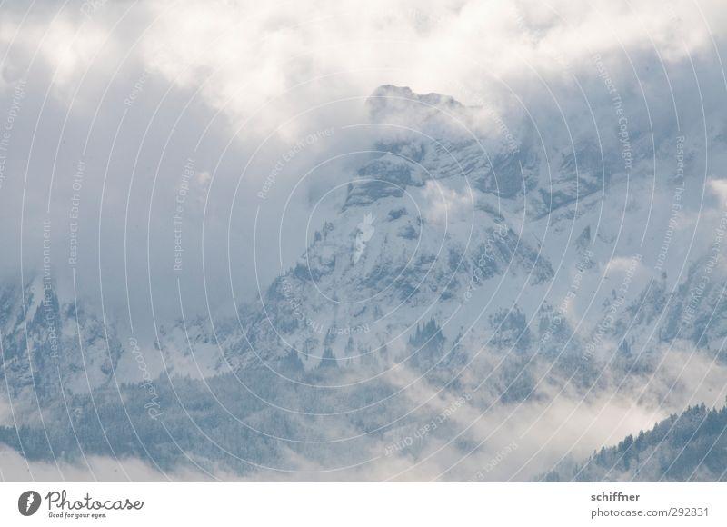 20 Sekunden Natur Landschaft Wolken Winter Umwelt Berge u. Gebirge kalt Schnee Schneefall Felsen Eis Wetter Klima Nebel Schönes Wetter Urelemente