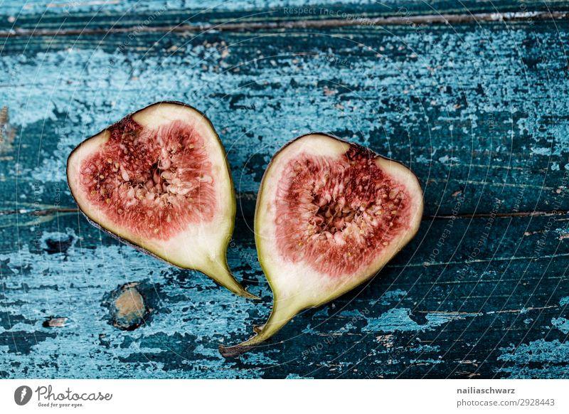 Feigen Lebensmittel Frucht Ernährung Bioprodukte Vegetarische Ernährung Gesundheit Gesundheitswesen Snowboard Holz lecker natürlich saftig schön süß blau rot