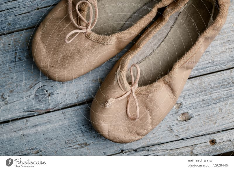 Ballet Shoes Lifestyle Holzfußboden Schuhe Turnschuh schläppchen Ballettschuhe Schleife alt einfach elegant retro Bildung Freizeit & Hobby Freude rein träumen