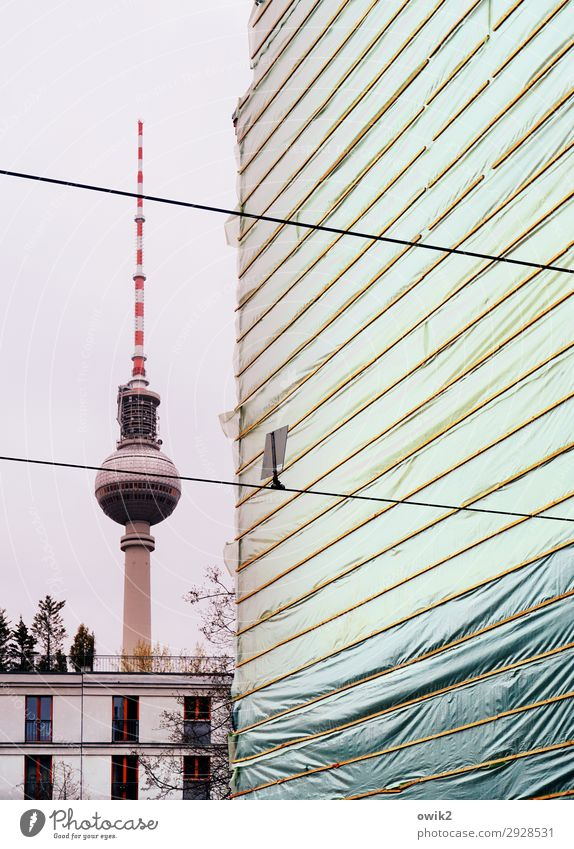 Berliner Luft Luft Luft Himmel Baum Haus Architektur Wand Gebäude Mauer Fassade modern stehen groß hoch Spitze rund Turm