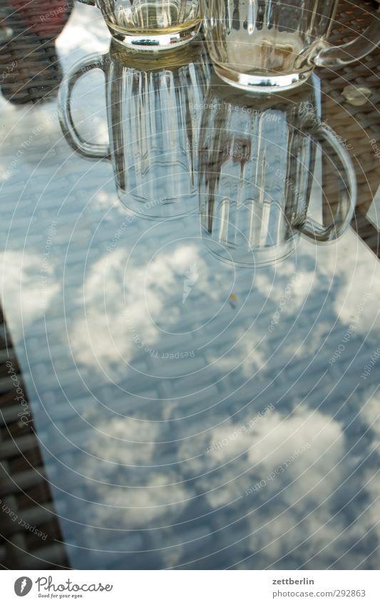 Ein Schwarzbier, ein Hefeweizen Himmel Natur Ferien & Urlaub & Reisen Sommer Erholung Wolken Freude Umwelt Küste Lifestyle Zusammensein Wetter Glas leer Getränk