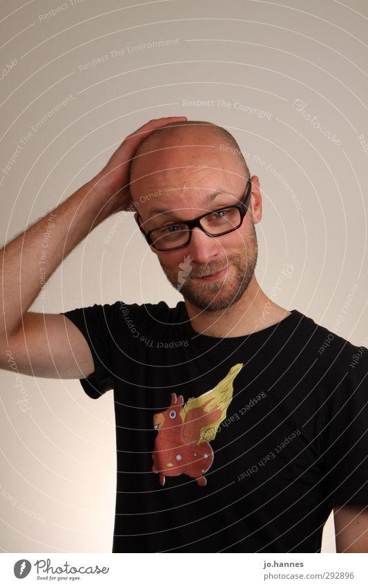 Bad Hair Day Glück Körperpflege Haare & Frisuren Flirten Valentinstag Erfolg Mensch maskulin Mann Erwachsene 1 30-45 Jahre Musik Bekleidung T-Shirt Glatze Bart