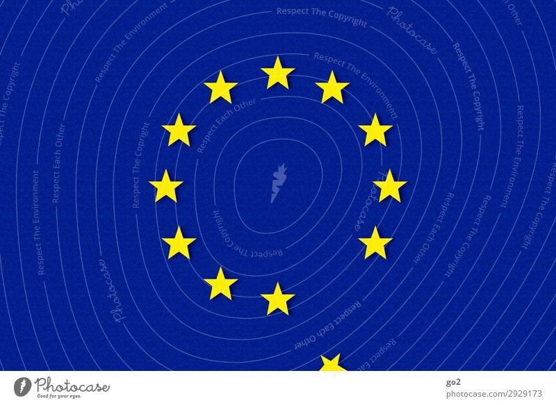 Europa Zeichen Fahne Stern (Symbol) blau gelb Zukunftsangst chaotisch Ende bedrohlich Gesellschaft (Soziologie) Krise Misserfolg Politik & Staat