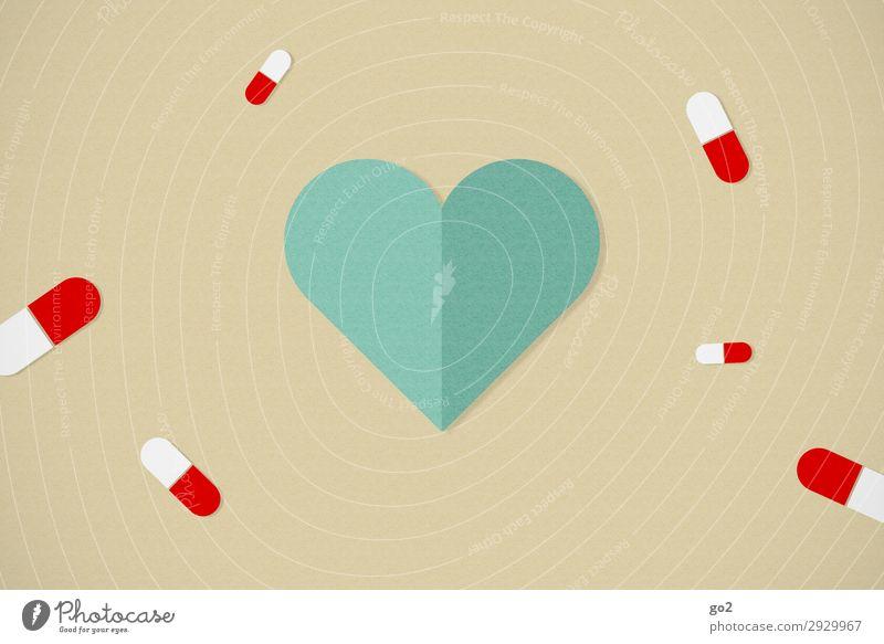 Gesundheit Gesundheitswesen Behandlung Krankenpflege Krankheit Medikament Zeichen Herz Sucht Grafik u. Illustration Farbfoto Studioaufnahme Nahaufnahme