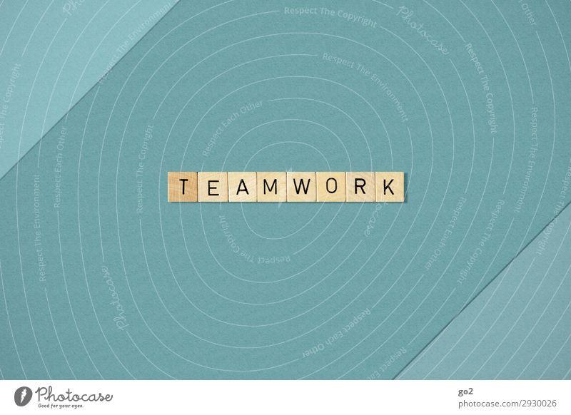 Teamwork Spielen Schule Berufsausbildung Studium Arbeit & Erwerbstätigkeit Business Mittelstand Unternehmen Karriere Erfolg Sitzung sprechen Holz Schriftzeichen