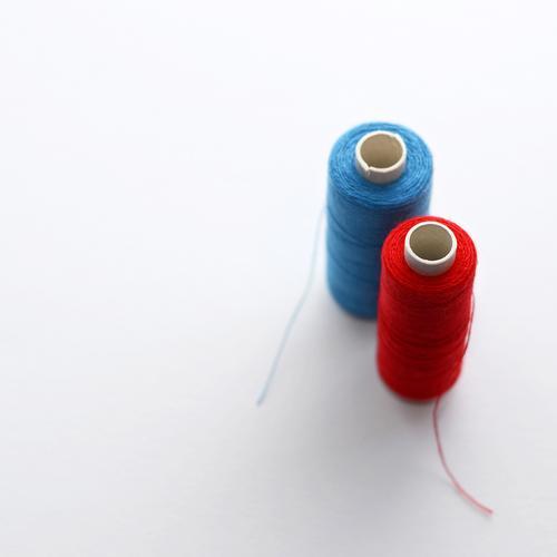 HOT LOVE   blau-rot-weiß Schneider Handwerk Nähgarn einzigartig Konkurrenz Nähen Freizeit & Hobby gestalten Mode Handarbeit 2 Kreativität Auswahl Teamwork