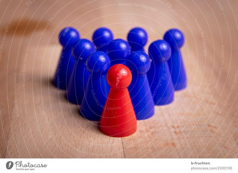 Gruppenführer Wirtschaft Business Unternehmen Karriere Sitzung Team Menschengruppe Zeichen Netzwerk Arbeit & Erwerbstätigkeit blau rot Verantwortung
