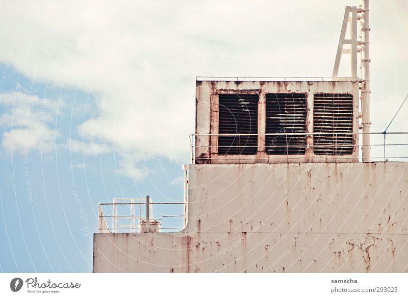 Frachtschiff Industrie Handel Güterverkehr & Logistik Schifffahrt Binnenschifffahrt Containerschiff Öltanker Hafen Arbeit & Erwerbstätigkeit alt eckig groß