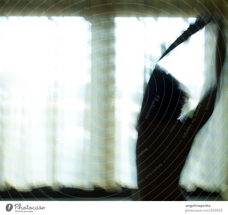 mit dir verschwinden Schatten Licht Fenster Vorhang Langzeitbelichtung Bewegung Unschärfe