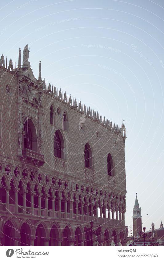 Stadt mit V. Gebäude Kunst Fassade Tourismus ästhetisch Italien historisch Sehenswürdigkeit Venedig Italienisch Berühmte Bauten Dogenpalast San Marco Basilica