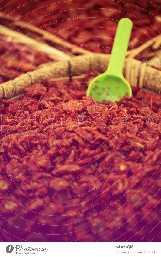 What the... rot Kunst ästhetisch viele Kräuter & Gewürze exotisch Marktplatz Ware Schaufel Paprika Zutaten Peperoni Warenlager Gewürzstand Markttag