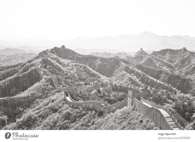The Wall- Abgrenzung Natur Pflanze Landschaft Umwelt Ferne Wand Mauer Asien Bauwerk lang China Grenze Barriere Trennung Ausgrenzung Grenzgebiet