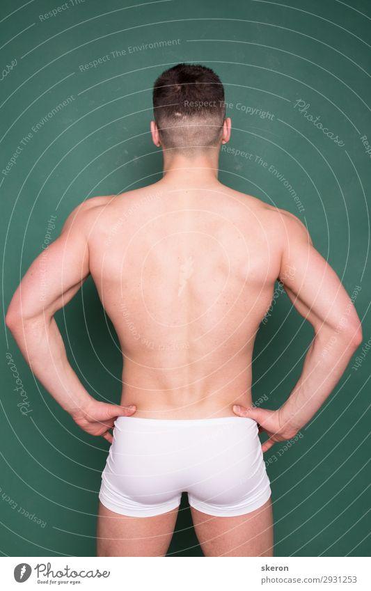 Bodybuilder mit breitem Rücken und elastischem Arsch Lifestyle schön Körperpflege Gesundheit Gesundheitswesen Wellness Leben harmonisch Zufriedenheit Party