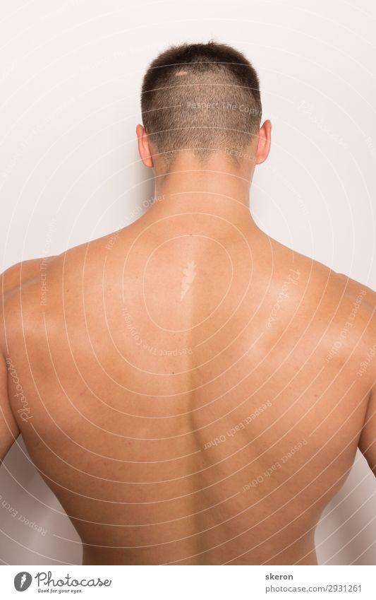 breiter muskulöser Rücken des Bodybuilders Lifestyle schön Körper Wellness harmonisch Zufriedenheit Sport Fitness Sport-Training Sportler Erfolg