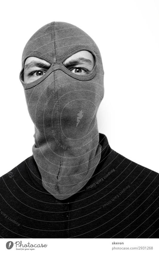 der Typ ist ein Tyrann in der Maske. Lifestyle Karneval Hooligan Kindererziehung Bildung Arbeit & Erwerbstätigkeit Beruf Mensch maskulin Junger Mann Jugendliche